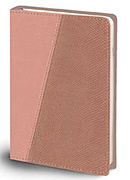 The Message Compact Bible: Beige/Pink Python, Leather-Look