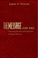 The Message Study Bible: Red, Imitation Leather
