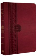 MEV Thinline Reference Bible: Cranberry, Imitation Leather