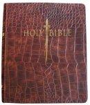 Kjver Sword Study Bible/Personal Size Large Print-Walnut All