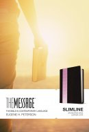 The Message Slimline Bible: Brown/Pink Wave