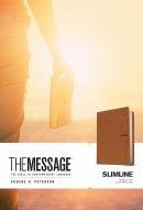 The Message Slimline Bible: Saddle Tan