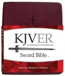 KJV Sword Study Bible Giant Print Burgundy Genuine Leather