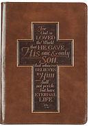 John 3:16 Cross LuxLeather Journal