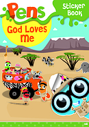 Pens Sticker Book: God Loves Me