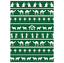 Nativity Pattern Green (Pack of 6)
