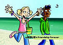 Jesus = friendship for ever - Pack of 20