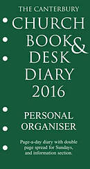 The Canterbury Church Book and Desk Diary 2016 Personal Organiser