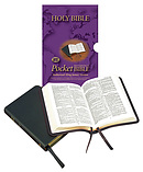 KJV Pocket Reference Bible: Burgundy, Calfskin