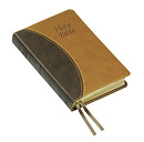 KJV Text Bible: Brown two-tone Imitation leather