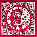 For God so loved the world (pack of 6 Christmas cards)