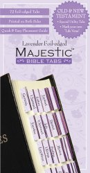 Bible Tabs Traditional Lavender