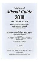 St. Joseph: St. Joseph Annual Missal Guide for 2018