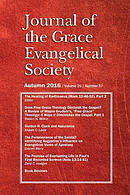 Journal of the Grace Evangelical Society (Autumn 2016)