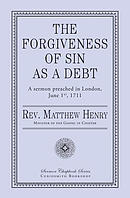 The Forgiveness of Sin as a Debt