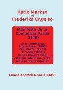 Manifesto de la Komunista Partio en kvar (parte kvin)  tradukoj kaj la germana originalo: En la tradukoj de Arturo Baker (1908), Emil Pfeffer (1923),