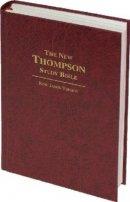 KJV New Thompson Study Bible: Burgundy, Hardback