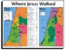 Where Jesus Walked Then And Now Wall Chart Laminated