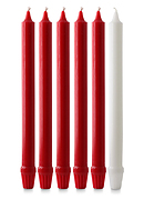 """Red & White Advent Candle Set (1"""" Diameter)"""