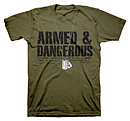 Dogtags T Shirt: Green, Adult XLarge