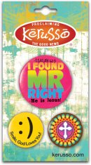Mr. Right Badges - Set of 3