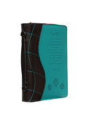 Hope Two Tone Lux Leather Bible Cover in Teal - Large