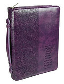 Faith Purple Bible Cover - Medium