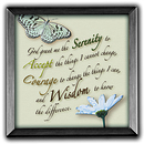 Serenity Prayer Silver Plaque