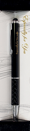 Cross Logo Black Pen with Stylus End