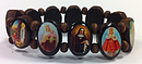 Wooden Elasticated Saints Bracelet