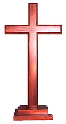 Cross 40cm (Standing) Stepped Square Base