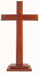 Plain Standing Cross With Stepped Base 24""