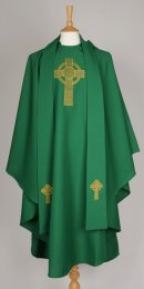 Green Celtic Cross Chasuble / Stole