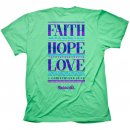 Cherished Girl Faith Hope Love T-Shirt Medium