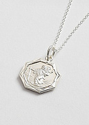 Octagonal Silver St Christopher