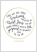 Created in Christ A4 Print