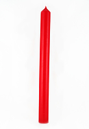 "Single Red Advent Candle Plain (1"" Diameter)"