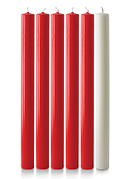 Red and White Advent Candle Set (1