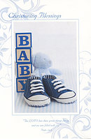 Christening Blessings Boy - Single Card