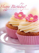 Happy Birthday Cards - Pack of 4