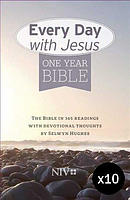 NIV Everyday With Jesus One Year Bible Pack of 10