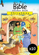 My Mini Bible Sticker Book: Christmas Pack of 10