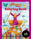 The Beginner's Bible Colouring Book - Pack of 5