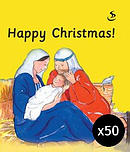 Happy Christmas pack of 50