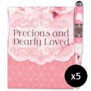 Precious and Dearly Loved Pen and Journal Set - Pack of 5