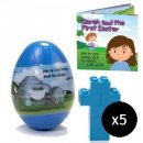 Jumbo Cross Gospel Easter Egg - Pack of 5