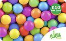 £10 Coloured Balls Gift Card