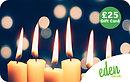 £25 Christmas Candles Gift Card