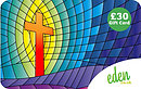 £30 Stained Glass Cross Gift Card