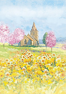 Watercolour Church Scene Charity Cards - Home For Good (5 Pack)